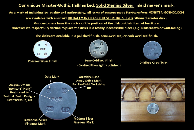 Our Minster Gothic Silver Disk Demonstration Photo