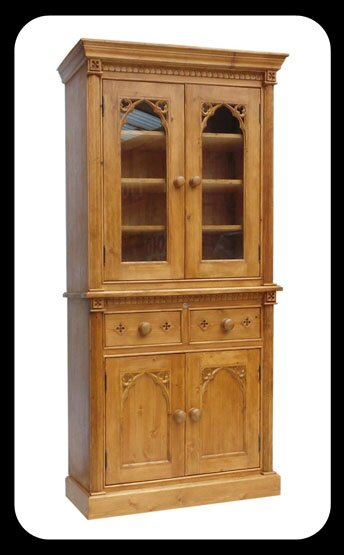 "Minster Gothic Classic ""Knaresborough"" Bookcase/Display Cabinet"