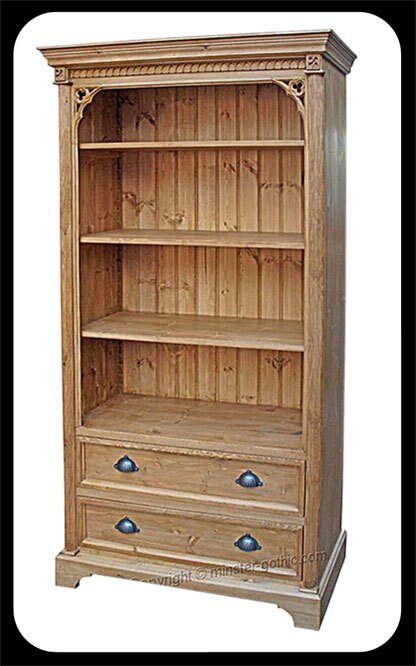 Minster Gothic 2-Drawer Bookcase