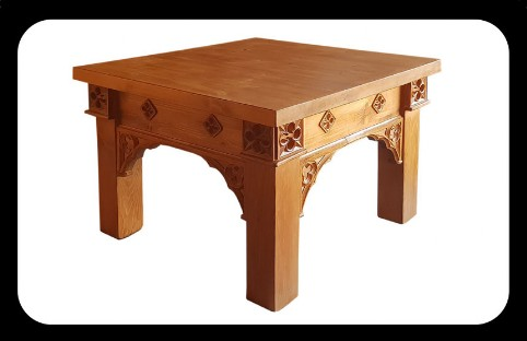 Minster Gothic Rustic Coffee Table