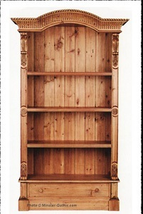 KeenPine Classics 1-Drawer Arch-Top  Bookcase #705