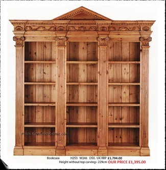 KeenPine Classics Large Classical Style Bookcase #1512